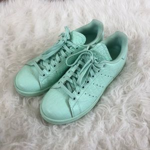 Adidas Stan Smith Mint Green Textured Leather